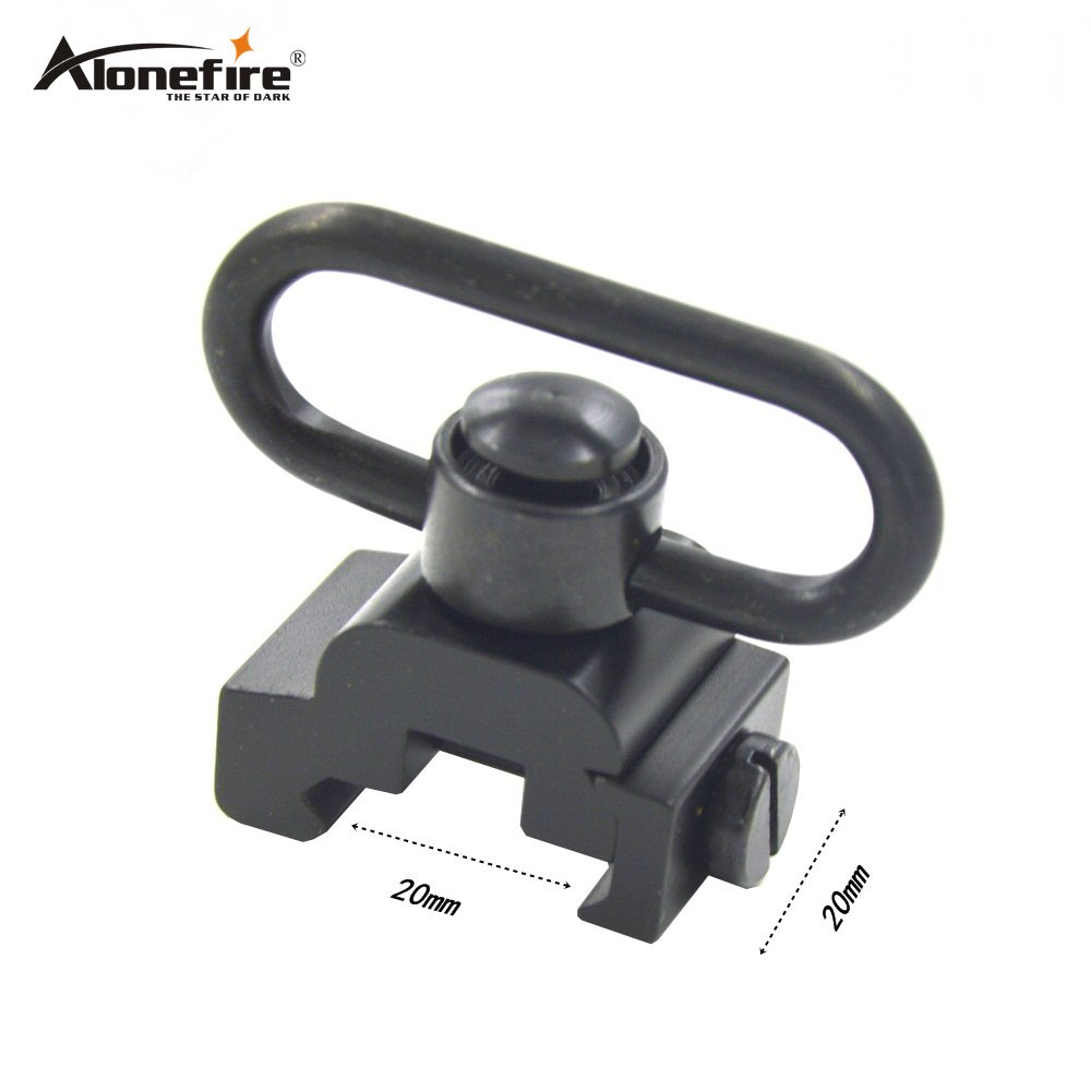 Alonefire Easily QD Heavy Duty Quick Detach Push Button Sling Swivel Set Airsoft Rifle Straps Buckle Picatinny 21mm Scope Mount