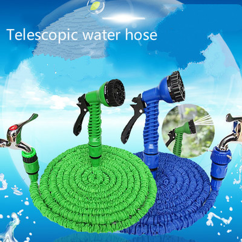 25FT-250FT Garden Hose Expandable Magic Flexible Water Hose EU Hose Plastic Hoses Pipe With Spray Gun To Watering Car Wash Spray(China)