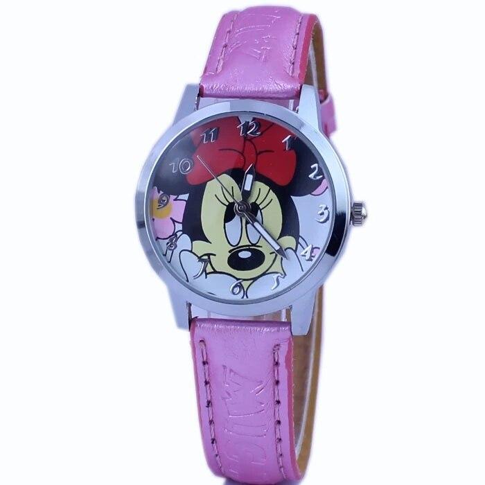 Cartoon Fashion Casual Belt Minnie Girls Favorite Quartz Children And Children Fashion Watch