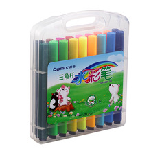 Washable water triangle main pole design fiber nib bright color watercolor pen / painting pen