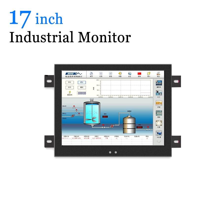 Ordinateur industriel d'affichage à cristaux liquides de moniteur de mur de coquille en métal de 17 pouces avec la sortie de TV de VGA HDMI DVI AV