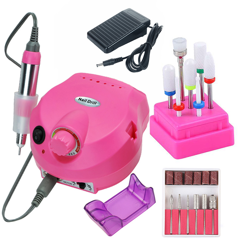 35000/20000 RPM Electric Nail Drill Machine Ceramic Bits Set Milling Cutters Manicure Pedicure Tips Strong Nail File Equipment