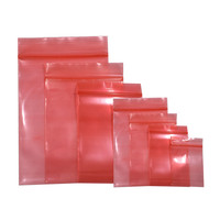 Wholesale Red Ziplock Bags ESD Shielding Anti Static Bag charger Package Bags for Home Electronic Accessories Storage 9 Sizes