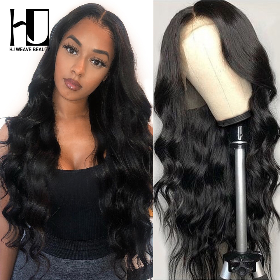 13x6 Glueless Lace Front Human Hair Wigs Brazilian Body Wave 30inch Pre Plucked With Baby Hair 180% Density 360 Lace Front Wig