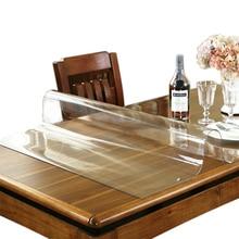 Брендовая скатерть из ПВХ, прозрачная скатерть, водостойкая скатерть для кухни, масляная скатерть, стеклянная мягкая ткань 1,0 мм