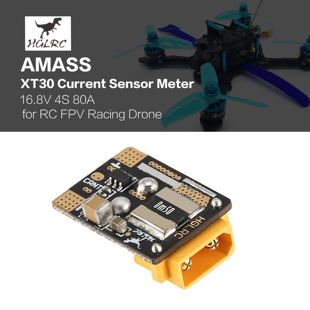 HGLRC AMASS XT60/XT30 Plug 25.2V 6S 120A Current Sensor Meter For RC Flight Controller Hornet FPV Racing Drone Parts Accessories