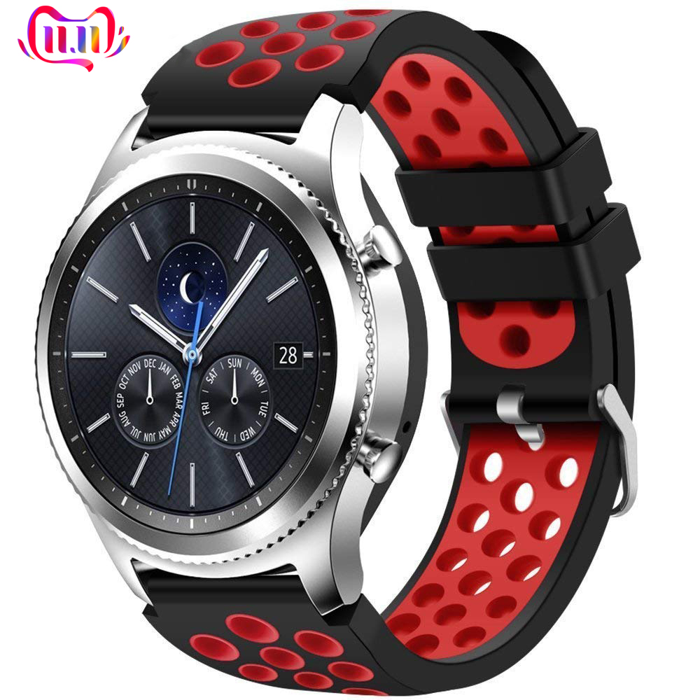 22 Strap For Samsung Galaxy Watch 46mm Gear S3 Frontier/Classic Silicone Replacement Wrist Rubber Band Bracelet Belt Accessories