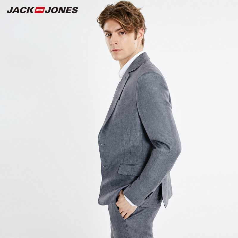 JackJones 남성용 새 도착 슬림 피트 리넨 통기성 블레이저 남성복 스타일 | 219172510