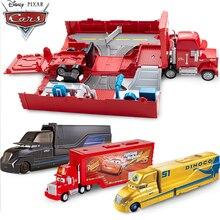 Disney Car Pixar Cars 3 Lightning McQueen Curz Ramirez Storm Jackson Large Transporter Deformation Truck Racing Track FRJ07
