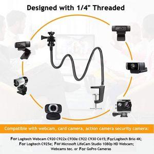 Camera Bracket with Enhanced Desk Jaw Clamp Flexible Gooseneck Stand for Webcam Brio 4K C925e C922x C922 C930e C930 C920