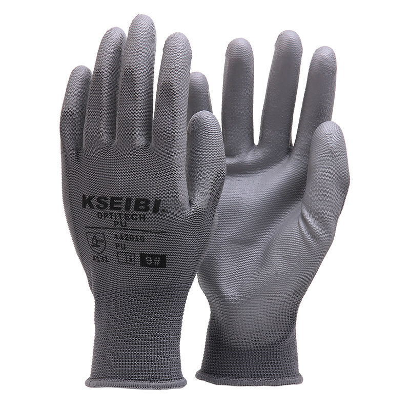 New 1 Pair Gardening Working Gloves Polyester Fiber + PU Anti-slip/Durable Garden Tools Safety Gloves Hands Protection