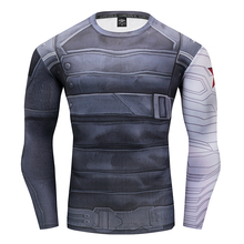 Winter Soldiers Spiderman Captain America T-Shirts 3D Printed compression Tee Men Avengers Fitness Sweatshirt Tights Long sleeve