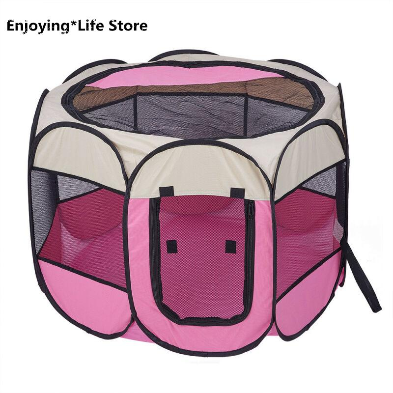 Large Portable Lightweight Pop Up Dog Pet Kennel House Travel Cage Puppy Cat New