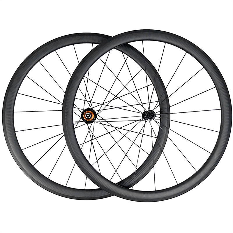 700c wheelset 1300g SUPER LIGHT 38mm clincher road <font><b>bike</b></font> carbon <font><b>wheels</b></font> aero <font><b>spoke</b></font> UD 3K 12K <font><b>6</b></font> pawl 11s wheelset 20/24 Holes image