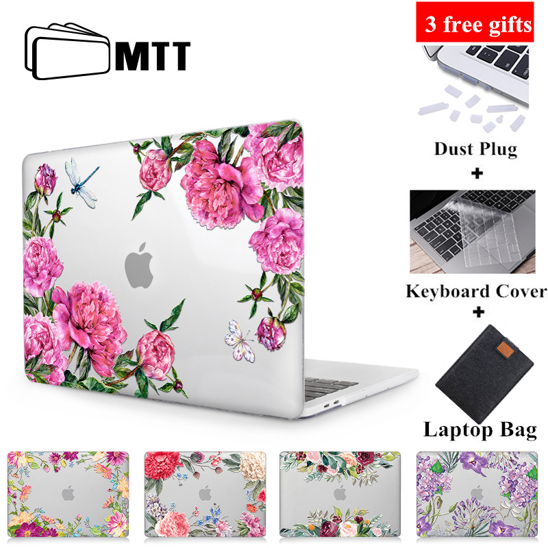 MTT Flower Crystal Case For Macbook Air Pro Retina 11 12 13 15 Touch Bar Cover For Mac Book Air 13.3 Inch A1932 Laptop Sleeve