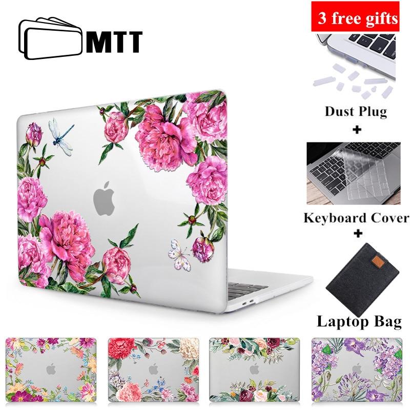 MTT flor cristal caso para Macbook Air Pro Retina, 11 12 13 15 16 Touch Bar para libro de mac air 13,3 pulgadas a1932 manga del ordenador portátilcase for macbook procases for macbooklaptop bag cover -