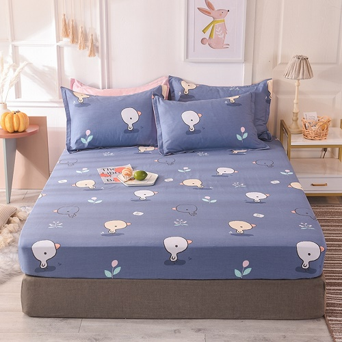 (New On Product) 1pcs 100% Cotton Printing bed mattress set with four corners and elastic band sheets(pillowcases need order) 7
