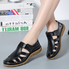 Women Gladiator Sandals Split Leather Summer Shoes