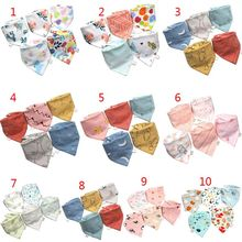 5 Pcs/Pack Baby Feeding Bibs Infant Scarf Towel Bandana Saliva Triangle Dribble