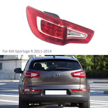 YTCLIN Tail Light for KIA Sportage 2011-2014 Q5 Style Rear Inner Outer Stoplight LED Rear Brake Light Car Light Assembly