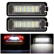 Luz LED blanca sin errores para matrícula de coche, 18SMD, 12V, 6500k, Blanca, para Golf MK4, MK5, MK6, Passat CC, Eos, Scirocco, 2 uds.
