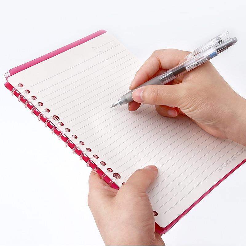Japan KOKUYO Loose-leaf Smartring Ultra-thin B5 Binder Bend Foldable A5 Notebook Translucent Student Coil Stationery