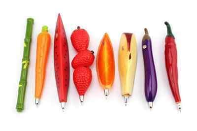 1PC fruit balpen Cartoon boligrafos Creatieve balpen