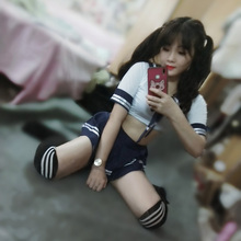 Women Japanese Sex School Uniforms Mini Skirt High School Student JK Suit Sailor Tube Tops Sexy Lingerie Cosplay Costume