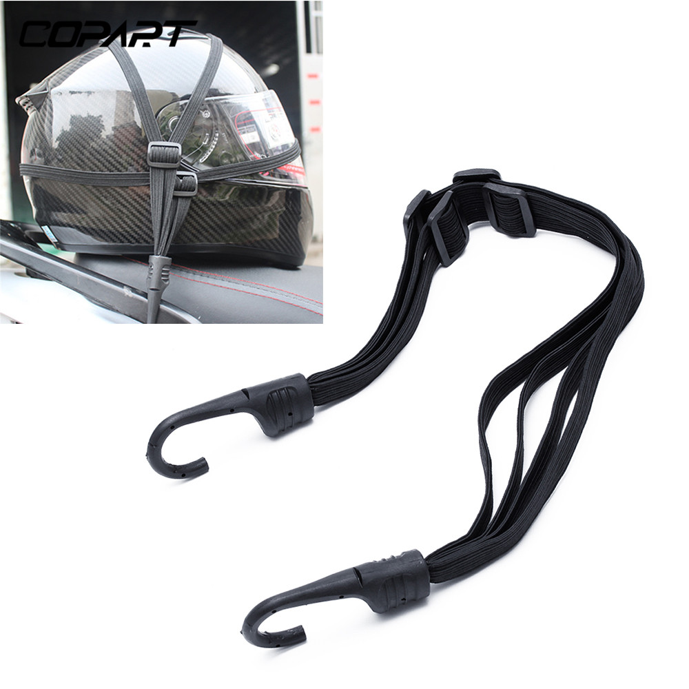 2 Hooks Motorcycle Helmet Straps Motorcycle Accessories Luggage Retractable Elastic Rope Fixed Strap Motos Helmet Luggage Net