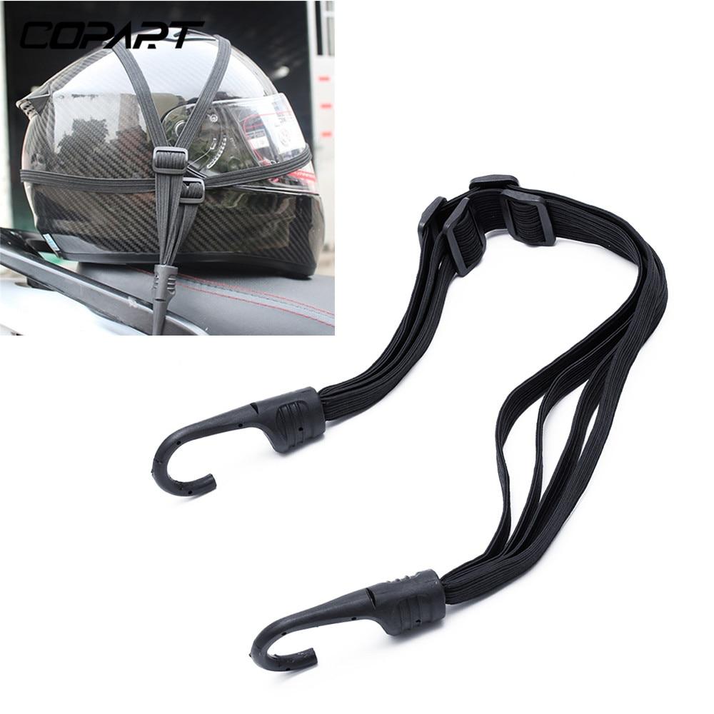 2 Hooks Motorcycle Helmet Straps Motorcycle Accessories Luggage Retractable Elastic Rope Fixed Strap Motos Helmet Luggage Net