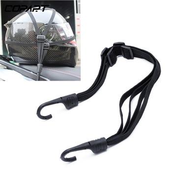 2 haki motocykl bagaż siateczkowy pasek siła chowany kask klamra liny bagażu naprawiono elastyczny pasek tanie i dobre opinie 65cm Rubber band Black 1X Motorcycles luggage Helmet Elastic Rope Tape