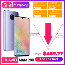 Смартфон HUAWEI Mate 20 X, экран 7.2, процессор Kirin 980, Kirin 980, 4 камеры, функция быстрой зарядки, аккумулятор 5000 мАч