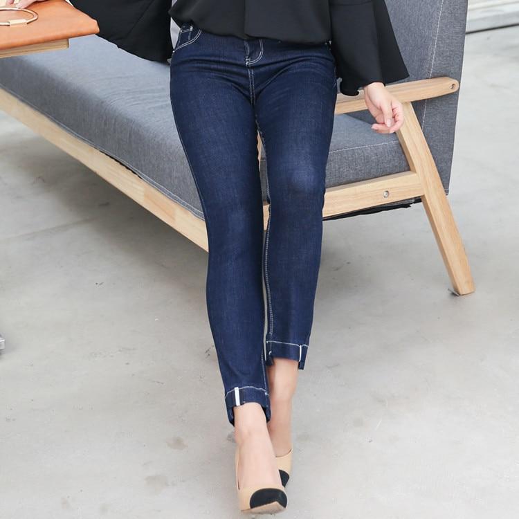 2020 Spring Skinny Jeans Denim Pencil Pants Top Stretch Women High Waist Plus Size Jeans