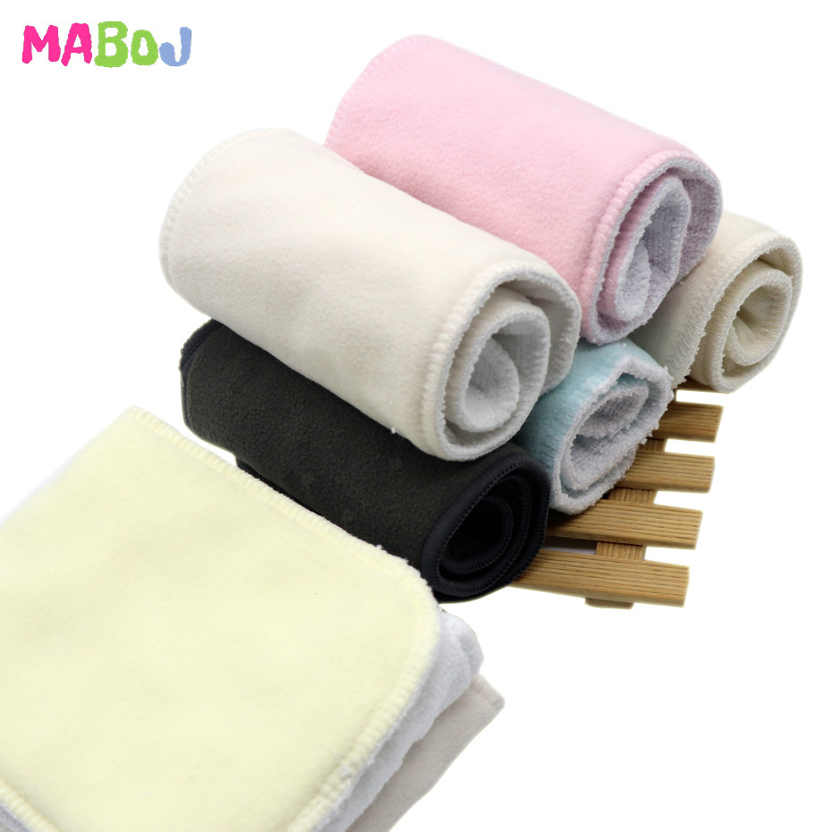 MABOJ Diaper Insert Reusable Microfiber Bamboo Charcoal Hemp Cotton Cloth Diaper Inserts One Size Nappy Changing Liner Wholesale