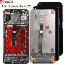 Tela para huawei honor 20 display lcd tela de toque nova digitador do painel de vidro lcd para huawei honor 20 display substituição da tela