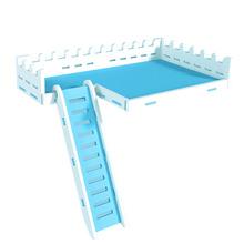 1 Set Hamster Climbing Ladder Ladder Pet Hamster Plaything (White, Sky-blue)