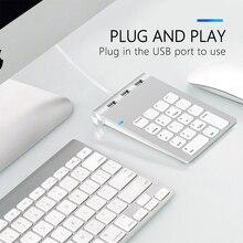 USB Numeric Keypad 18 Keys with three USB Hub For iMac MacBook Air Pro Lenovo PC computer number accountant mini keyboard