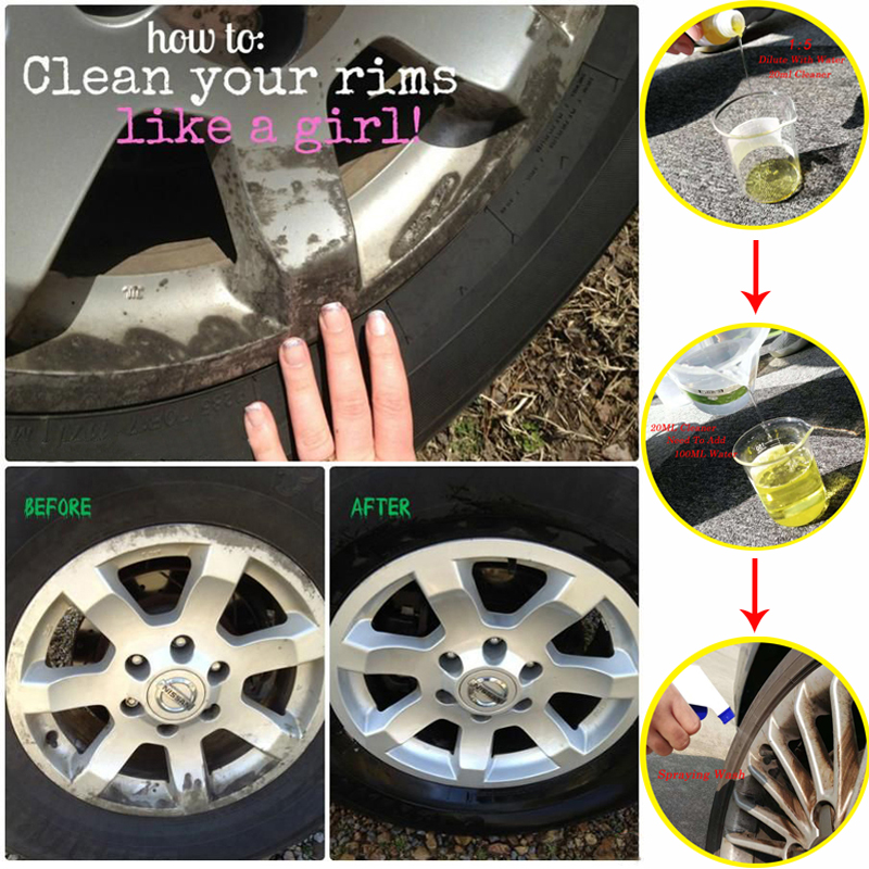 HGKJ 20ML Car Rim Cleaner Car Wheel Cleaning 1:5 Diluted Concentrate Liquid Decontamination Rust Removal Car Accessories