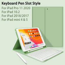 For ipad 10.2 Case with Keyboard for ipad 7th generation Case / 9.7 2018 / Air 2 1 / Mini 4 Mini 5 / for iPad Pro 11 2020 case keyboard case for ipad 9 7 2017 2018 air 2 pro 9 7 cover for ipad mini 4 5 7 9 shell for ipad air 3 2019 pro 10 5 case keyboard