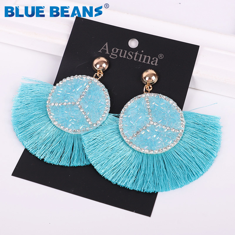 Ha548abd1218a4bcba202331ae5f429e1x - Tassel Earrings Women Punk Earings Fashion Jewelry Hanging Crystal Star Girls Earring Drop Dangle Long Boho Set  Luxury Handmade