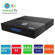 A95x F2 Smart Tv Box Android 9.0 4 G 64Gb Netflix HD 4K Tvbox A95XF2 H.265 BT4.2