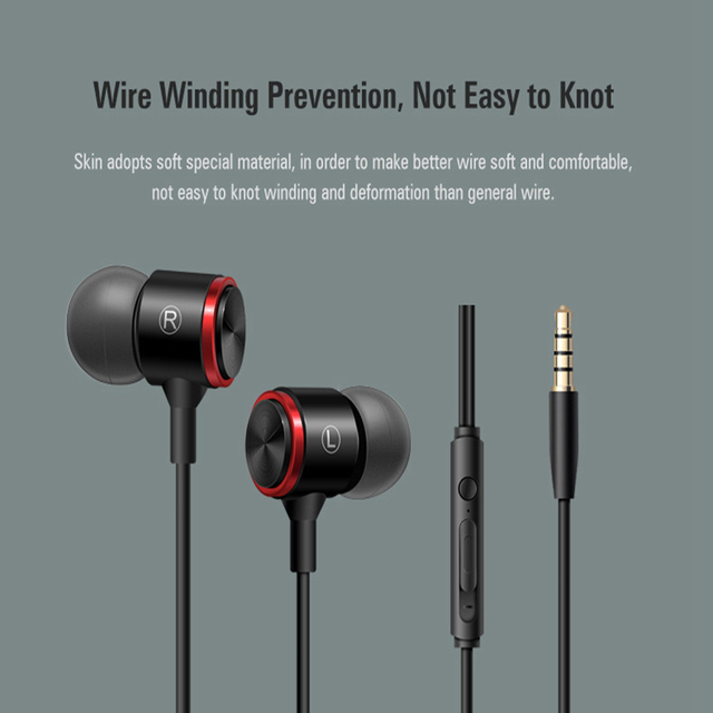 HiFi Stereo 3.5mm In Ear Earphones With Microphone Gaming Headset Earbuds Wired For Xiaomi Redmi Note 7 Umidigi A5 Pro Honor 8X