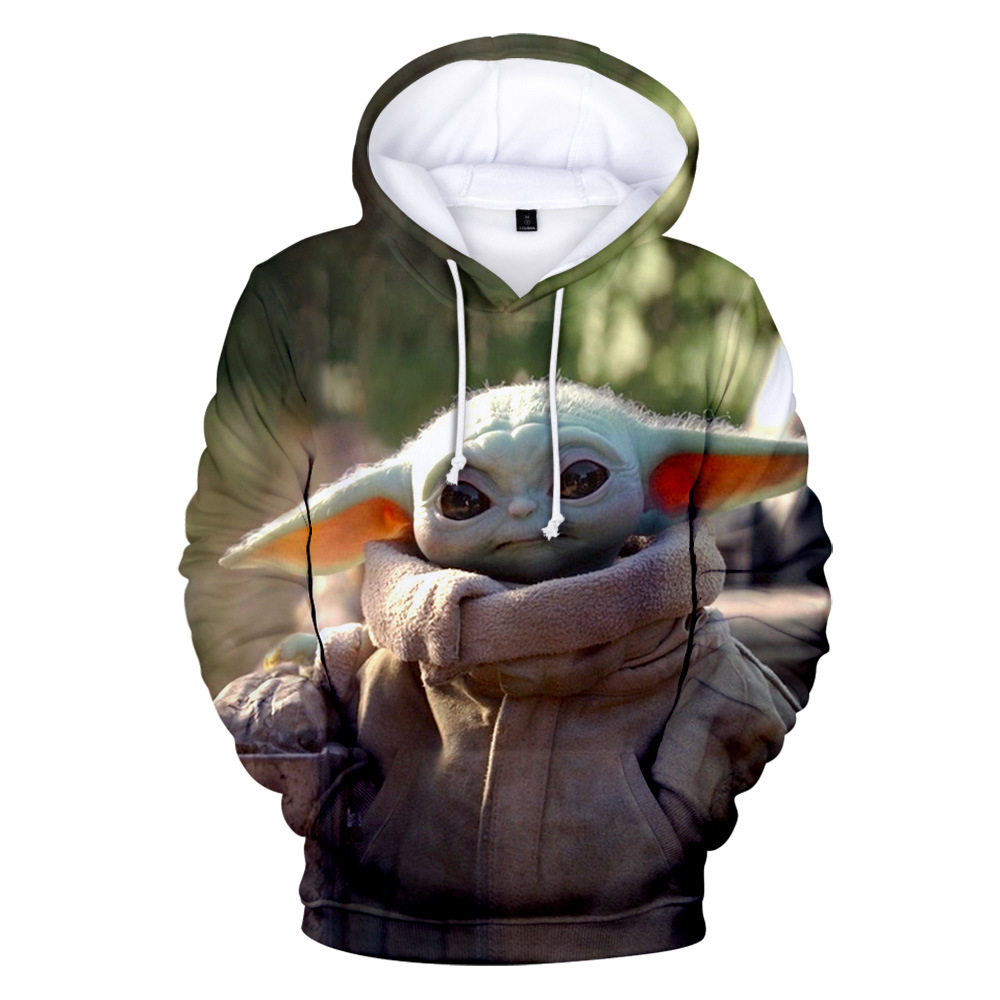 Star Wars The Mandalorian Baby Yoda 3D Print Hoodies Sweatshirts Cosplay Costumes Hooded Casual Coat Jacket