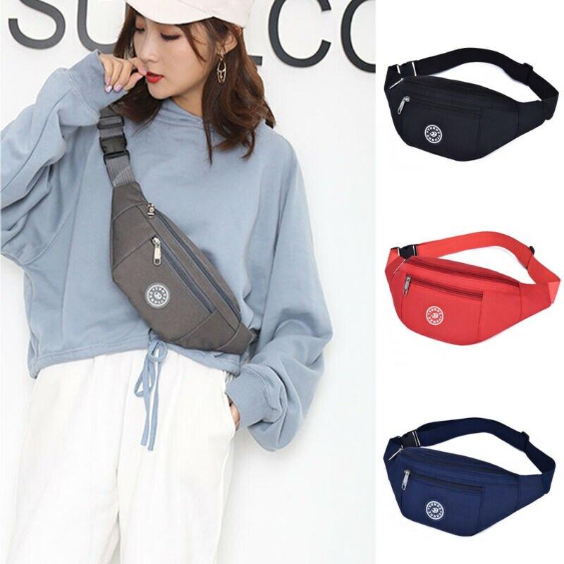 Sports Travel Bum Bag Money Waist Belt Fanny Pack HIP Money Pouch Pocket Wallet Casual Waterproof Solid Shoulder Crossbody