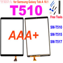 Aaa + 10.1 touch touch toque para samsung galaxy tab a 10.1 2019 t510 t515 t517 SM-T510 toque digitador da tela de substituição do painel vidro
