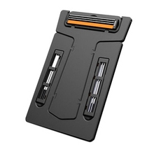 Portable Card Shaver Pocket Razor Safety Razor with Mirror & Blades Men's Trimmer for Outdoor
