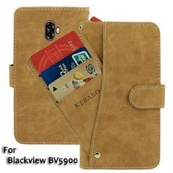 На Алиэкспресс купить чехол для смартфона vintage leather wallet blackview bv5900 case 5.7дюйм. flip luxury card slots cover magnet stand phone protective bags