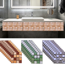 10 pcs pvc wall hexagon tile sticker self adhesive new creative hexagonal floor sticker kitchen bathroom mosaic tile stickers 10pcs DIY Waterproof Mosaic Tile Stickers PVC Self Adhesive 3D Wall Sticker 10*10CM Bathroom Kitchen Wall Decorative Decals