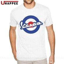 6XL Vespa motocicleta Tees para hombres de moda clásica de manga corta urbana camiseta Vintage buscando ropa