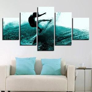 Холщовый плакат, художественный домашний декор для гостиной, HD-принты, 5 шт., Фотофон